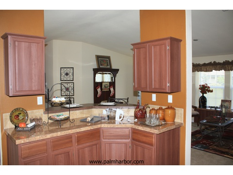 The Klamath - kitchen. Picture of home by manufactured/modular builder Palm Harbor.