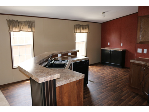 Kitchen and dining area....