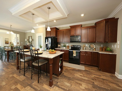 Kitchen - The Buckeye II, 3 Bedrooms, 2 Baths, 3,145 Sq. Ft., modular Palm Harbor home built by Nationwide Homes