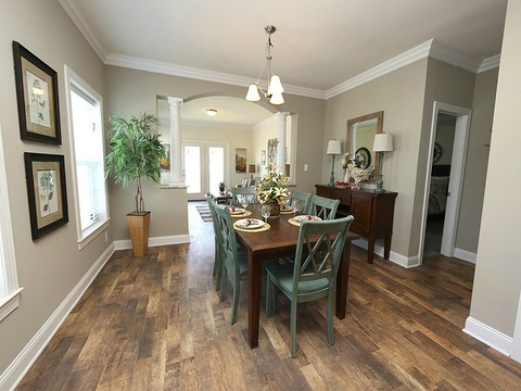 Dining room - The Buckeye II, 3 Bedrooms, 2 Baths, 3,145 Sq. Ft., modular Palm Harbor home built by Nationwide Homes