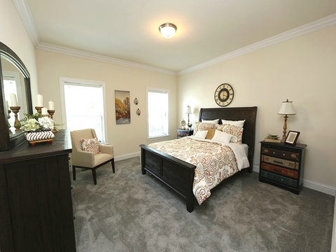 Master bedroom - The Buckeye II, 3 Bedrooms, 2 Baths, 3,145 Sq. Ft., modular Palm Harbor home built by Nationwide Homes