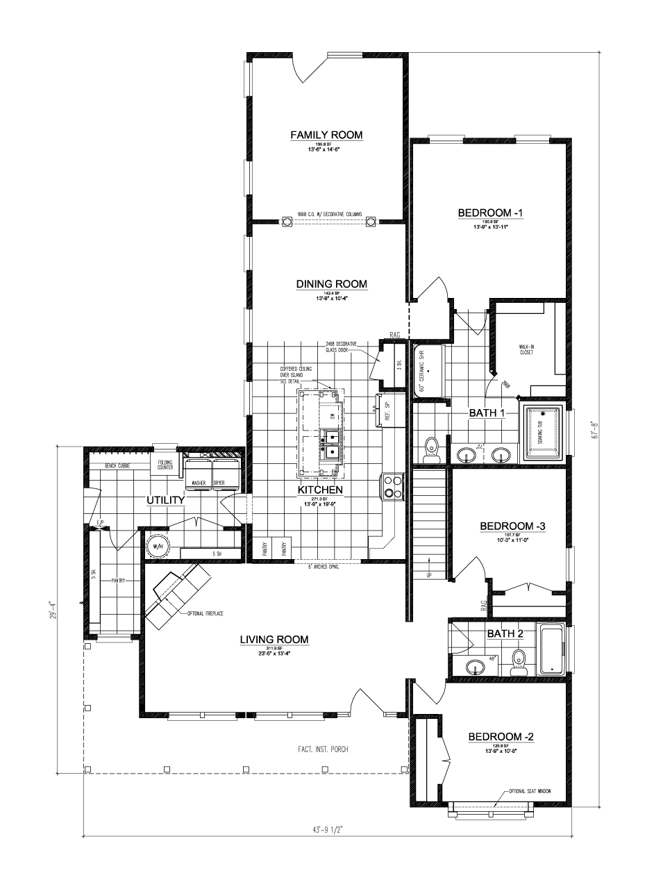 The buckeye ii manufactured home floor plan or modular for Select homes floor plans