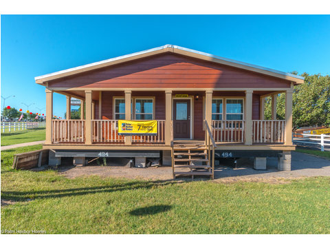 The Montana VR32663A - 3 Bedrooms, 2 Baths, 1,759 Sq. Ft. manufactured home by Palm Harbor Homes - full wrap front porch