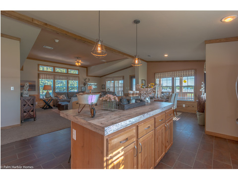 Large island in kitchen - The Montana VR32663A by Palm Harbor Homes
