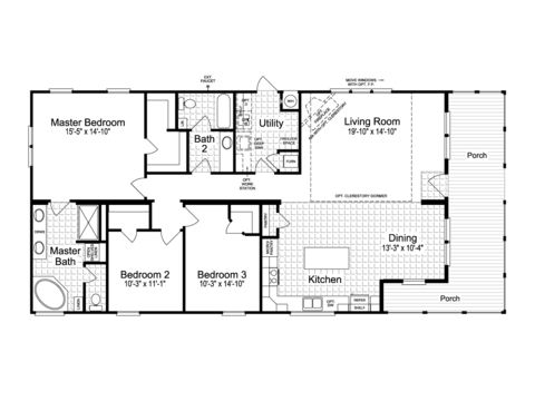 >The Montana VR32663A Floor Plan