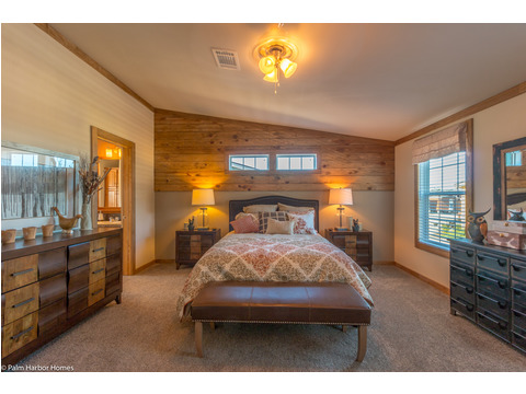 Master bedroom - The Montana VR32663A by Palm Harbor Homes