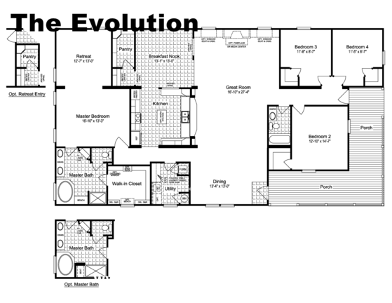The Evolution Porch Floor Plan