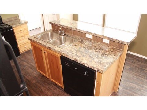 Move-in ready home in Pine Trace Community, Houston, TX - large kitchen island with raised bar