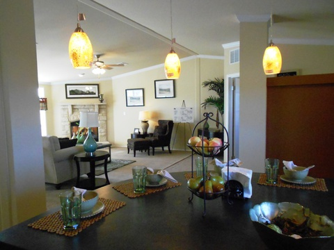 Open living area - The Grande Isle VRT364L4 by Palm Harbor Homes