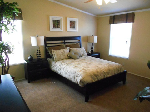 Master bedroom - The Grande Isle VRT364L4 by Palm Harbor Homes