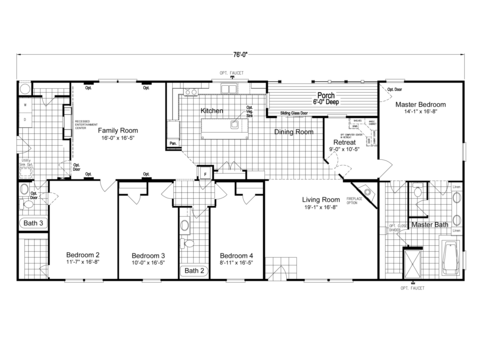 >The Pecan Valley V Extra Wide KHV476B2 Floor Plan