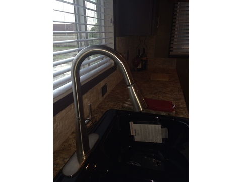 Luxurious goose neck faucet - Pecan Valley V Extra Wide KHV476B2 or ML34764P by Palm Harbor Homes