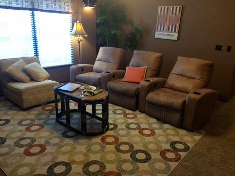 Media room - Pecan Valley V Extra Wide KHV476B2 or ML34764P by Palm Harbor Homes