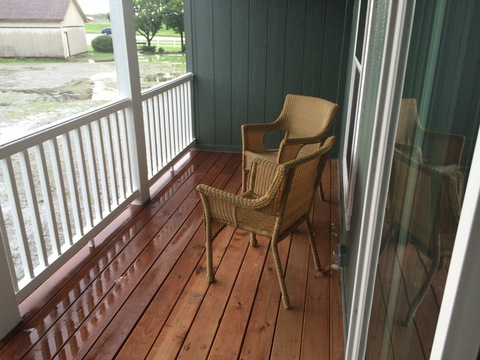 Practical and accessible covered back porch - Pecan Valley V Extra Wide KHV476B2 or ML34764P by Palm Harbor Homes