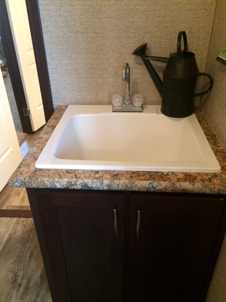 Deep tub sink in the spacious utility room - Pecan Valley V Extra Wide ...