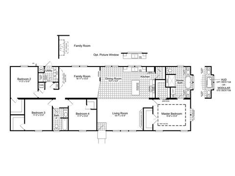 Alternative 28' wide version - The Urban Homestead III FT28764D Floor Plan (2,077 Sq. Ft.)