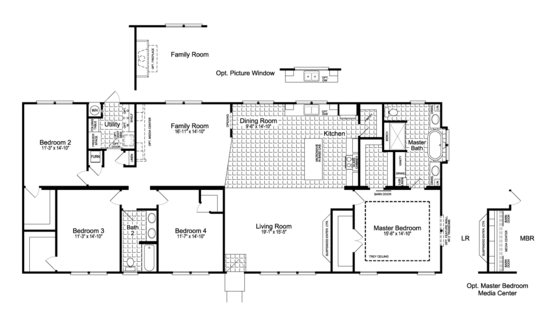 Floor Plan:The Urban Homestead III FT32764F Floor Plan - a smaller 28' wide version also available