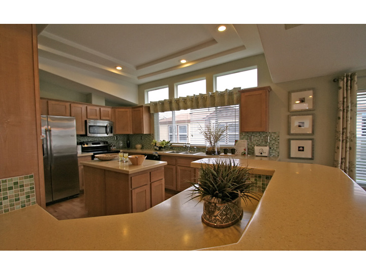 You will be amazed at how much space is in this kitchen! There is a