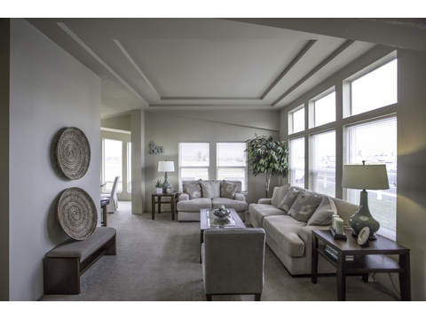 Living room - The Sunset Bay by Palm Harbor Homes