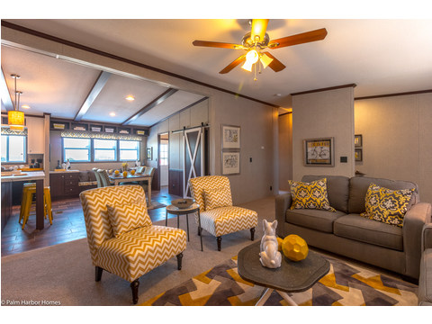 Living room seen from another angle - The Arlington ML30523A by Palm Harbor Homes