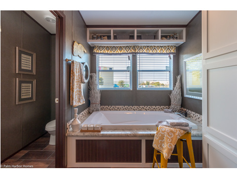 Master bath with enclosed commode area - The Arlington ML30523A by Palm Harbor Homes
