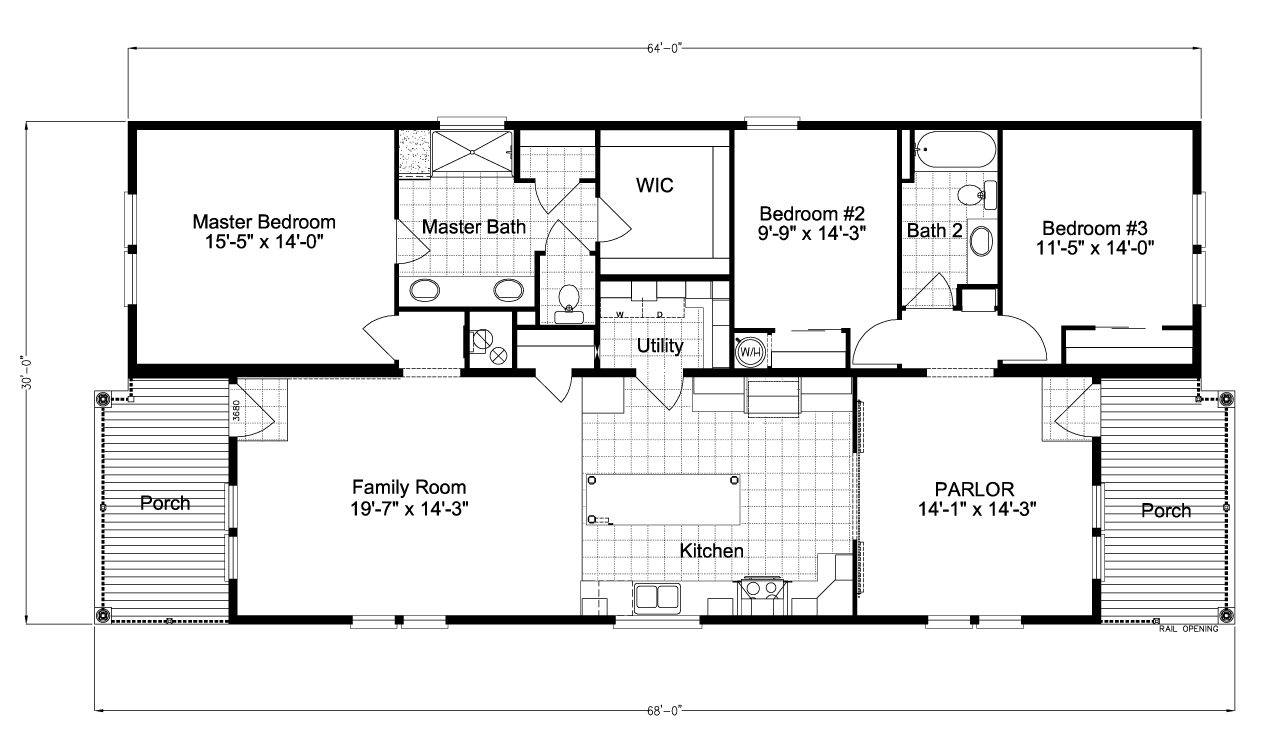 View riviera ii floor plan for a 2040 sq ft palm harbor for Ready built homes floor plans