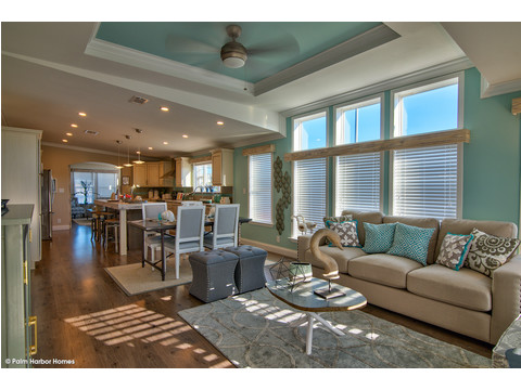Family room - The Riviera II, 3 Bedroom, 2 Bath, 2,040 Sq. Ft. manufactured home by Palm Harbor in Plant City