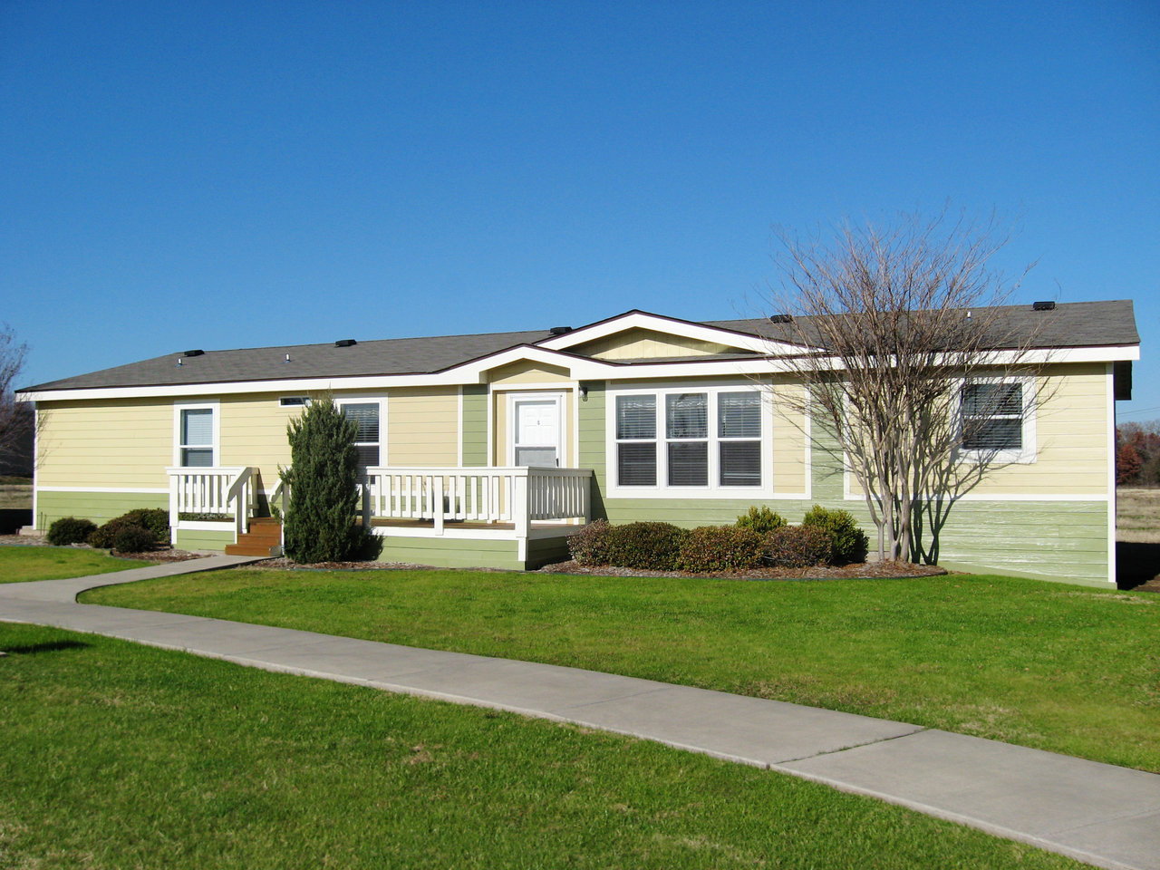 The pecan valley iii ml30683p manufactured home floor plan for Deck plans for mobile homes