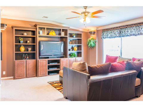 The Pecan Valley III has a wonderful den that is perfect for a theater room if you enjoy movies or the big game! Plenty of room for special seating and spectacular built-ins designed specially for today's larger flat screen televisions.
