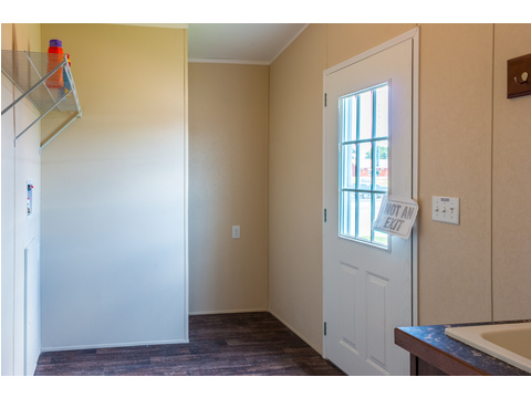 Take one last look at all of the space in this utility room!! A stand up freezer would fit nicely in that corner.The Pecan Valley T360G5 or 30603P, 3 Bedrooms, 2 Baths, 1,800 Sq. Ft., by Palm Harbor Homes