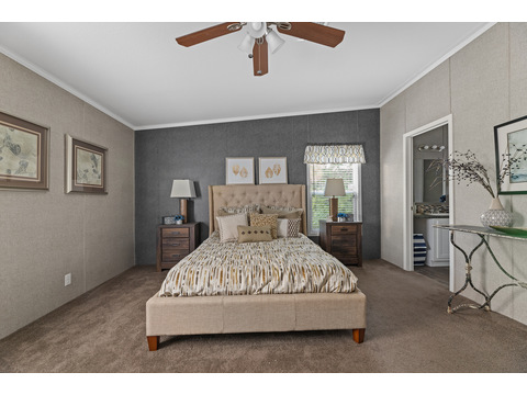 Cypress III master bedroom by Palm Harbor Homes - 4 Bedrooms, 2 Baths, 1,920 Sq. Ft.