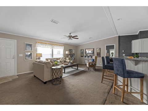 Cypress III open living area by Palm Harbor Homes - 4 Bedrooms, 2 Baths, 1,920 Sq. Ft.