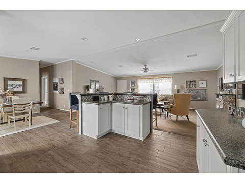 Cypress III kitchen area by Palm Harbor Homes - 4 Bedrooms, 2 Baths, 1,920 Sq. Ft.