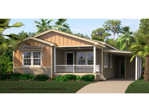 Artist's Rendering - Summer Haven with carport, by Palm Harbor Homes