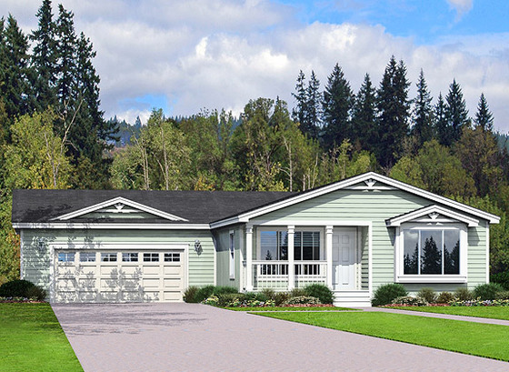 Designed for garages olympia washington home photos for Modular homes with garages