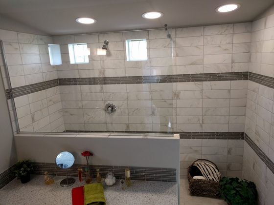 The Frontier - tiled shower