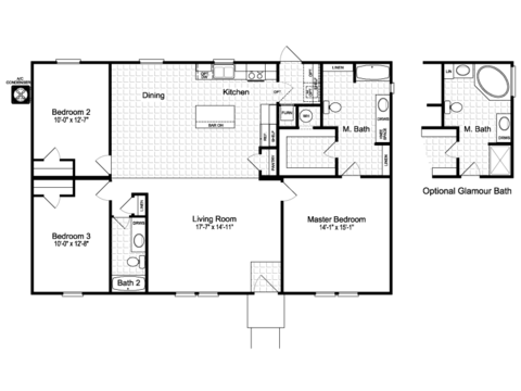 >The Momentum II MMT348B1 Floor Plan