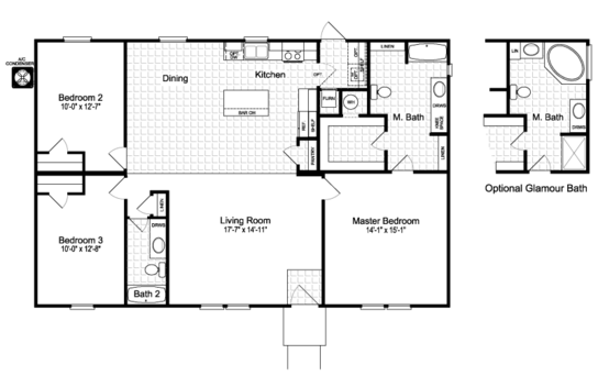 Floor Plan:The Momentum II MMT348B1 Floor Plan