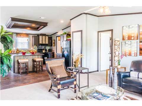 Great flow in this house for living and entertaining - The Momentum II MMT348B1 or MM32483A manufactured home by Palm Harbor Homes - 3 Bedrooms, 2 Baths, 1,488 Sq. Ft