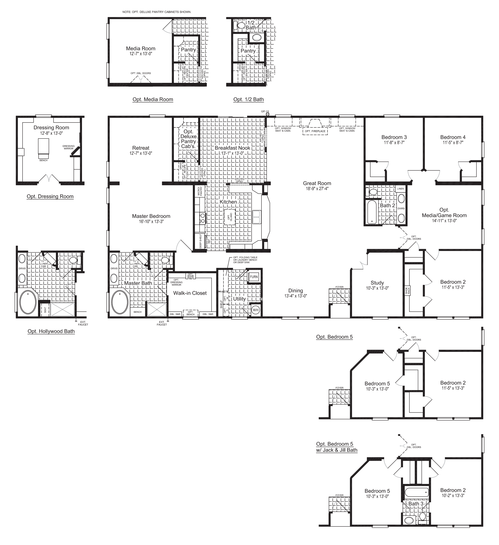 Floor Plan:The Evolution Standard Floor Plan, 3,116 Sq. Ft. - Palm Harbor Homes