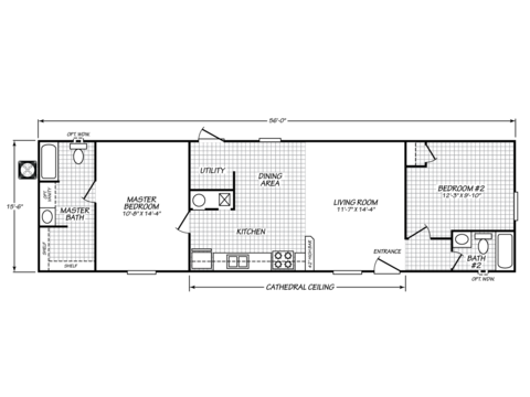 >Velocity Model VE16562V Floor Plan