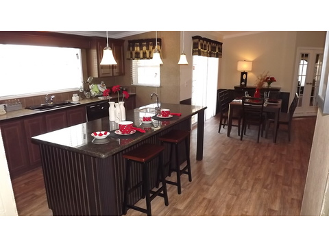 Kitchen and dining area - The Pecan Valley III - Extra Wide KHV368H1 by Palm Harbor Homes