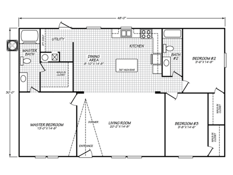 >Model VE32483V Floor Plan