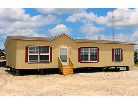 The exterior of this manufactured home really POPS!  The Velocity Model VE32483V - 3 Bedrooms, 2 Baths, 1,440 square feet - from Palm Harbor homes