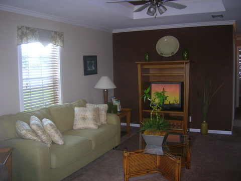 Living room with Feature Wall - Monet P3446J by Palm Harbor Homes