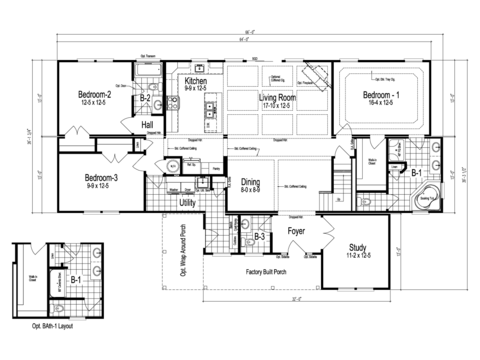 >The Maiden II - First Level Floor Plan