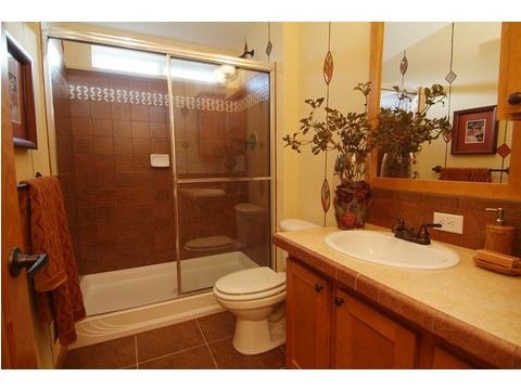 Guest bath with optional shower - The Timberridge Elite 5V468T5, Palm Harbor Homes