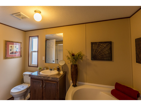 Model 16763V Master Bath has everything you need - Palm Harbor Homes - 3 Bedrooms, 2 Baths, 1,178 Sq. Ft.