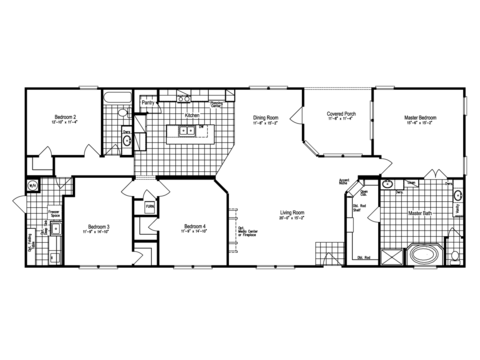 >The Big Bend CB32764B Floor Plan