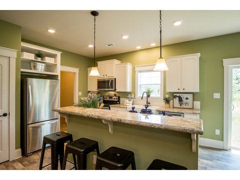 Kitchen and Snack Bar - The Logan, 3 Bedrooms, 2 Baths, 1,720 Sq. Ft.